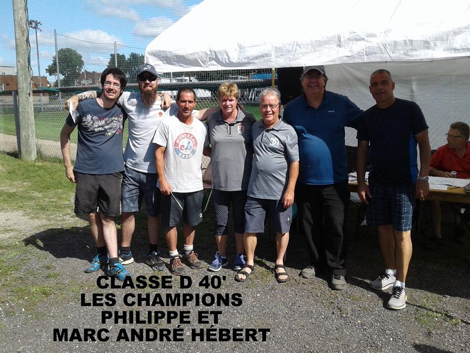 Classe D 40' champions: Philippe & Marc-André Hébert (à gauche).