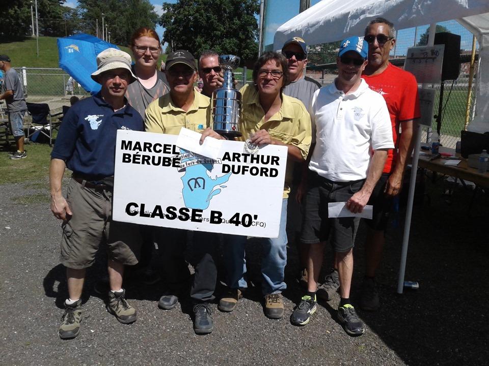 Classe B 40' champions: Marcel Bérubé & Arthur Duford