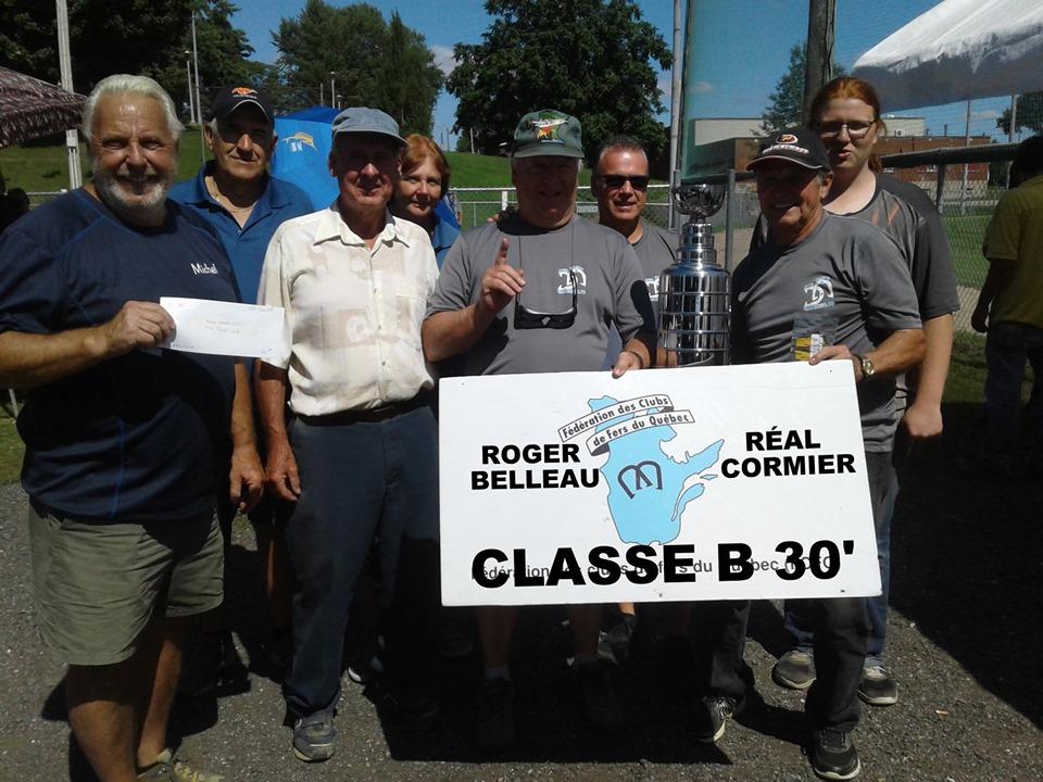 Classe B 30' champions: Roger Belleau & Réal Cormier