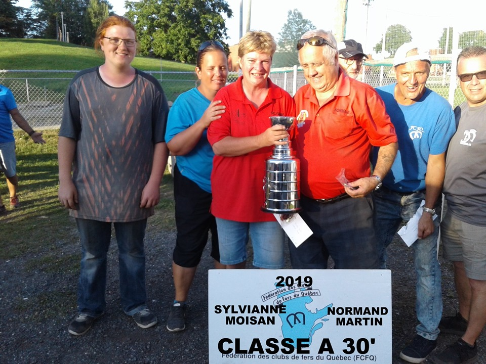 Classe A 30' champions: Sylvianne Moisan & Normand Martin