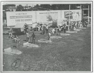 Vue du terrain du Club de Fers Royal de Sorel (rue Royale) vers 1967.