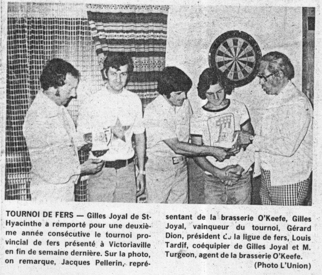 1974 - Tournoi provincial - Victo (Gilles Joyal & Louis Tardif)