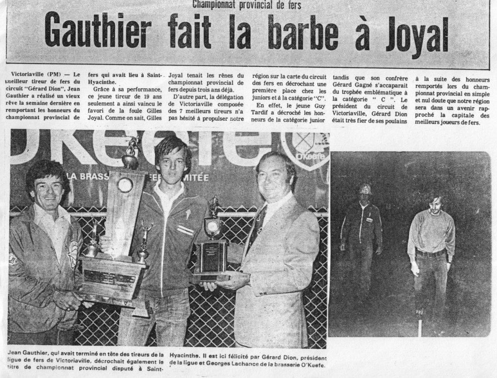 1977 - Championnat du Québec (Jean Gauthier)