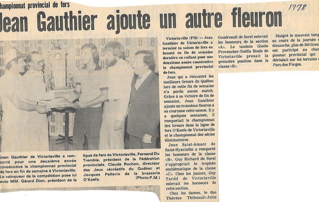 1978-09-06 - Championnat du Québec à Victo (A)