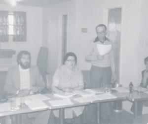 Assemblée des membres vers 1978.