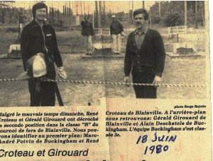 Premier tournoi provincial en 1980