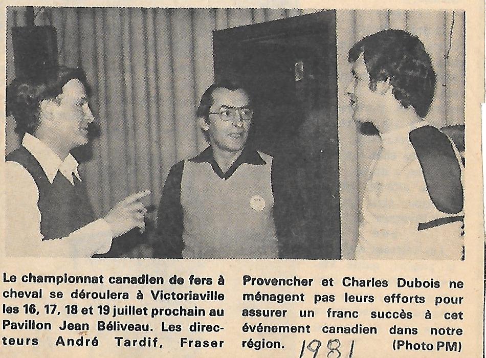 1981 - Championnat Canadien (André, Fraser, Charles)