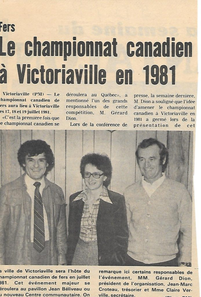 1981 - Championnat Canadien (Gérard, Claire, Jean-Marc)