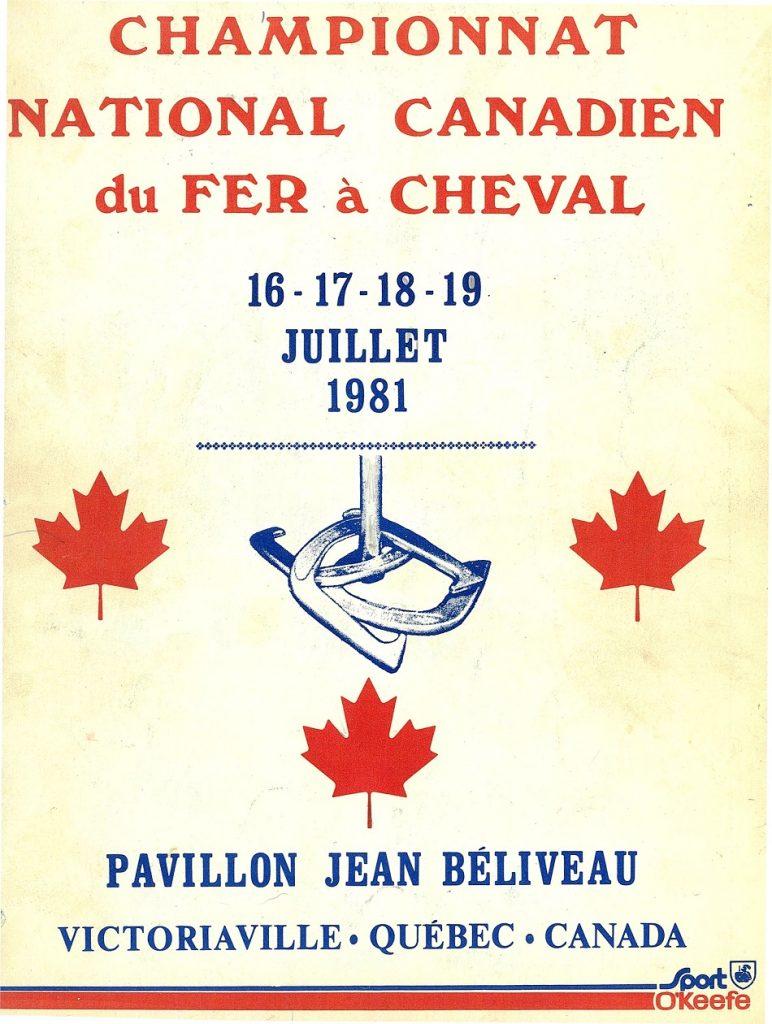 1981 - Championnat Canadien - Programme souvenir