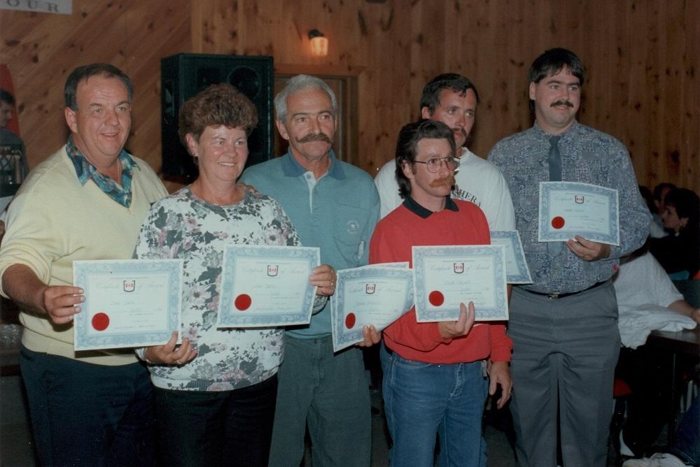 1993 - Soirée Méritas - certificats Horseshoe Canada