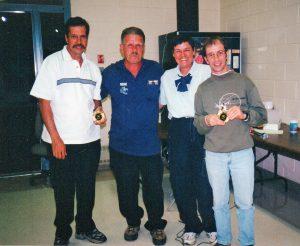2000 avec d'autres grands bénévoles: Fernand Brodeur, René Croteau et Diane Chaunt.