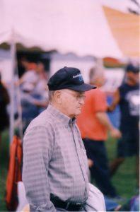 Fernand Dutremble spectateur au Championnat 2004 (sa dernière présence).