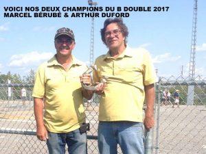 Champions 40 pieds B: Marcel Bérubé & Arthur Duford