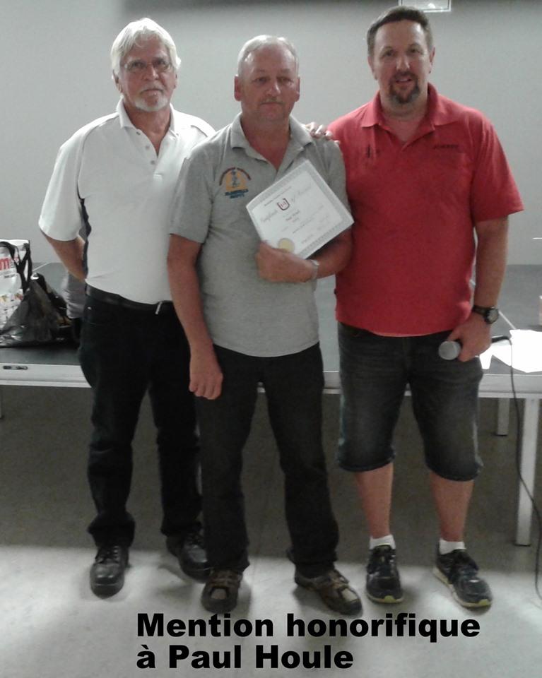 Paul Houle - certificat Horseshoe Canada (plus de victoires au Canada en 2018)