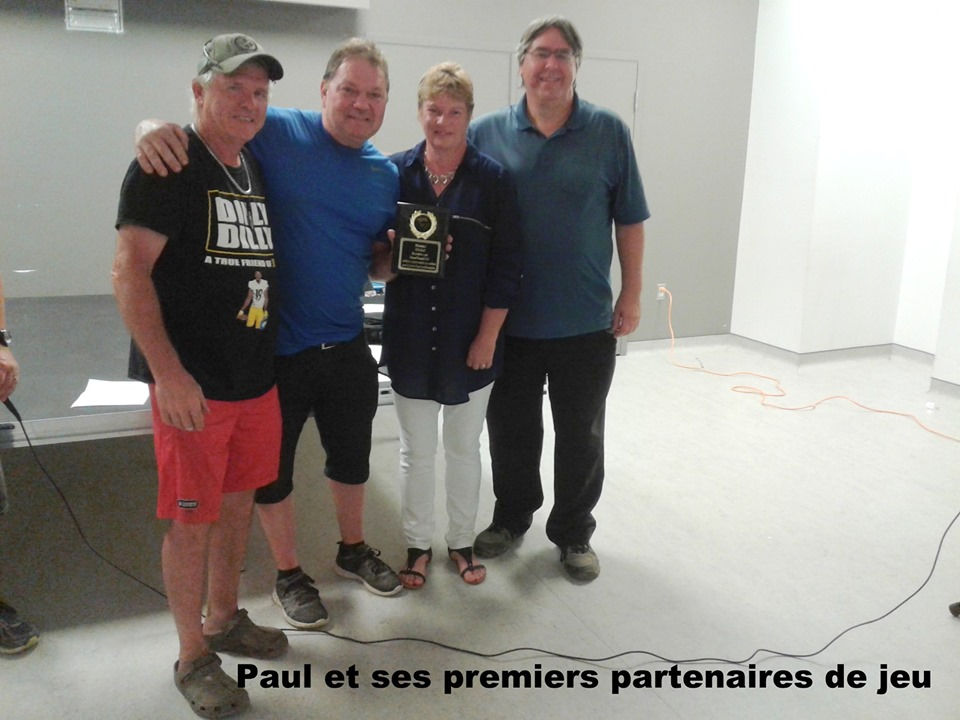 Paul Blais et ses premiers partenaires lors de son retour au jeu...