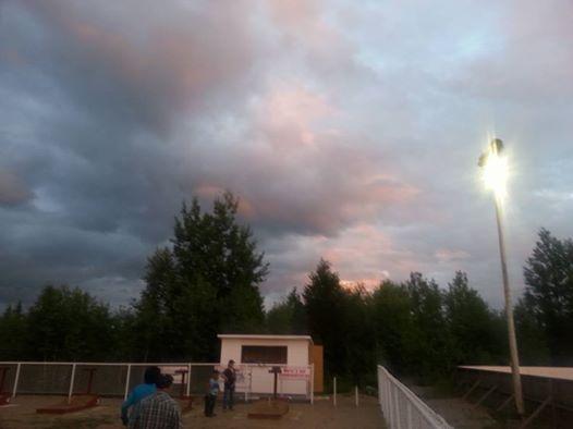 Un coucher de soleil au terrain de fers...