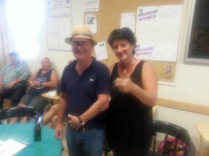 6 août - Chambord - gagnants B: Alain Arseneault & Lynda Martel