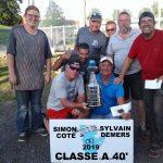Classe A 40' champions: Simon Côté & Sylvain Demers