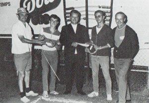 Jean St-Amand et Louis Brodeur, champions du Québec en double 1970.