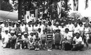 Groupe de Canadiens au Championnat du Monde 1977 à Greenville, Ohio.