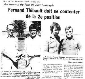 1978 - Championnat en double à St-Joseph-de-Sorel.