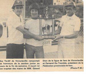 Guy Tardif, premier champion junior (1977 et 1978)