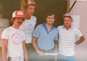 Vers 1982 avec André Lépine, Jacques Lacoste, Gilles Joyal et Fernand.