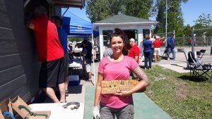 Blainville: Sylvia Auger à son premier tournoi. Bienvenue!