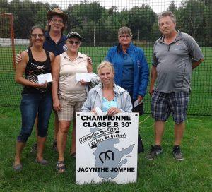 Boursières Femmes Classe B (gagnante Jacinthe Jomphe)