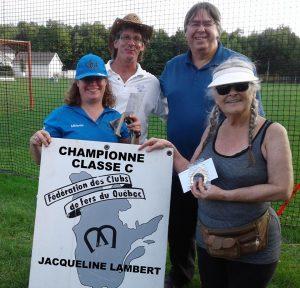 Boursières Femmes Classe C (gagnante: Jacqueline Lambert)