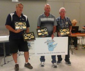 Ont reçu une plaque pour 3 méritas (Daniel, Yvan, Denis).