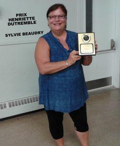 Prix Henriette-Dutremble: Sylvie Beaudry (membre par excellence féminin)