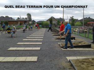 Beau terrain pour un championnat!